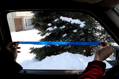 With A Simple Piece Of Tape, Man Shows How To Instantly Defog Windows For Good