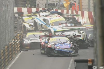 WATCH: Qualification Race Gets Suspended After Huge Pile Up