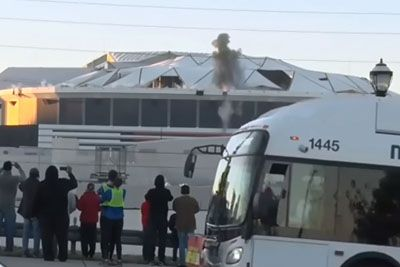 Camera Man Loses It When Bus Blocks His View On Gerogia Dome Implosion