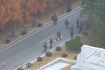 Dramatic Video Shows Escape And Shooting Of North Korean Defector