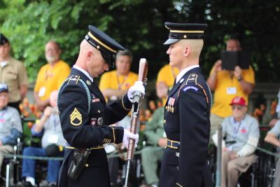 He Takes Soldier's Rifle In Hand, Then Impress Everyone With Inspection Routine