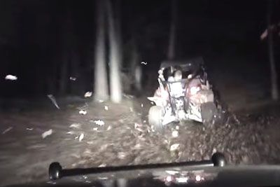 Wild Police Chase Ends With A Crazy Getaway Through Woods