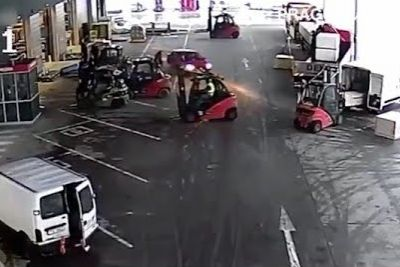 Forklift Drivers Stop Thieves From Getting Away With The Goods