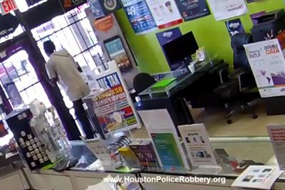 Armed Robber Gets Locked Inside Houston Store, Begs Employee To Let Him Out