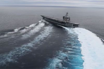 Did You Know Aircraft Carriers Could Go This Fast And Turn This Sharply?