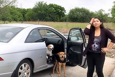 Woman Caught In The Act Of Dumping 4 Of Her Own Dogs Gets What She Deserves