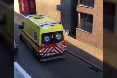 WATCH: Belgium Trucker Moves The Ambulance To Clear Path Ahead Of Him