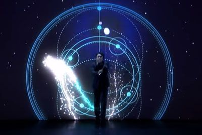 Fantastic Diabolo Performer Mochi Interacts With Cool Projection On AGT