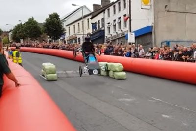 Soapbox Derby Organizers Set Up Ramp That's Too High, Chaos Ensues