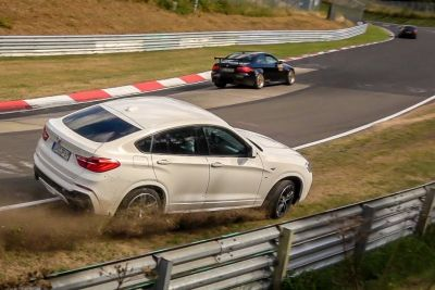 BMW X4 Driver Loses Control On Nürburgring, Crashes Into A Wall