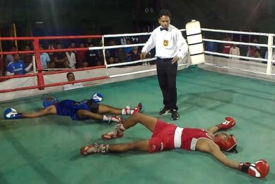 Boxing Match In India Ends With Epic Double Knockout
