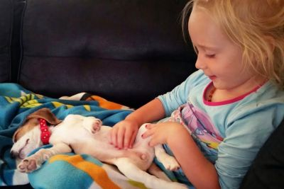 Crying Puppy Wants To Sleep With Little Girl, Result Will Warm Your Heart