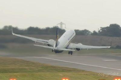 Storm Ali Blows Ryanair Plane Into