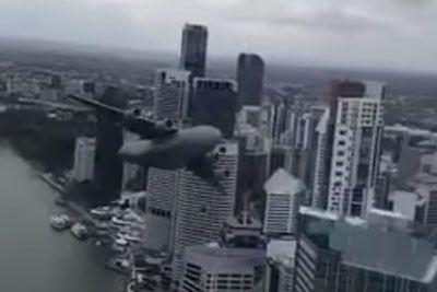 Plane Flies Too Close To Buildings In Australia: