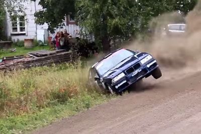 Rally Drivers Crash One After Another In Most Unusual Turn On Rally Finland