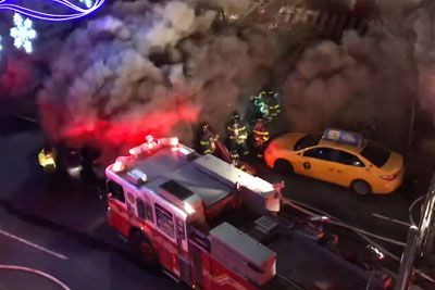FDNY Firefighters Experience Major Backdraft During A 5th Alarm Fire