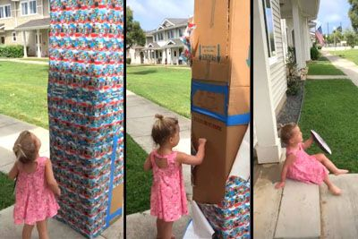 Dad Sends Baby Girl Giant Box Of