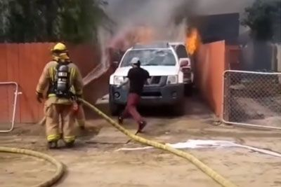 Man Shows Incredible Loyalty, Rushes Into His Burning House To Save His Dog