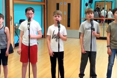 5 Young Boys Line Up And Unleash Cover From