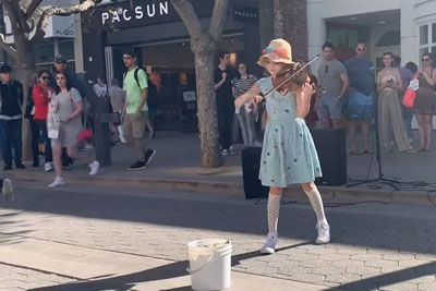 Little Girl Grabs Violin On The Street, Delivers Most Touching
