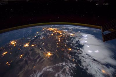 Time-Lapse Footage Of The Earth During Thunderstorms As Seen From The ISS