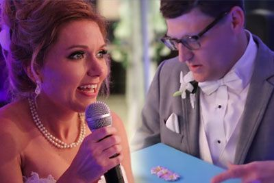 Bride Delivers Special Gift For Groom At Their Wedding, Leaving Him In Tears