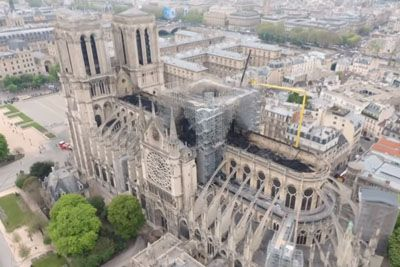 Aerial Footage Reveals The True Extent Of Damage After Notre Dame Fire