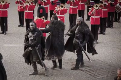 Queen's Guard Brings Game Of Thrones To Tower Of London