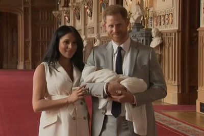 Prince Harry And Meghan Markle Present Their Newborn Son For The First Time