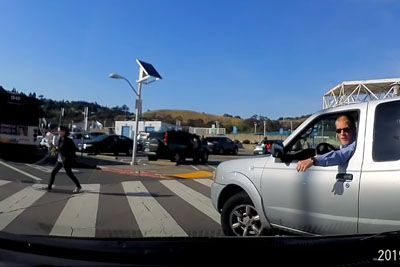 Driver Gets Mad At Pedestrian Crossing, Road Rage Ends With Unexpected Act