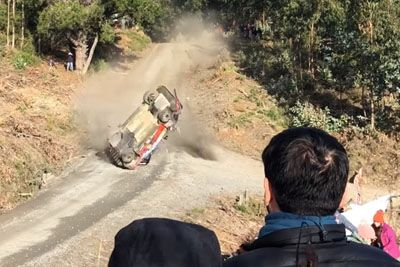 WATCH: Thierry Neuville Ends With Huge WRC Rally Crash In Chile