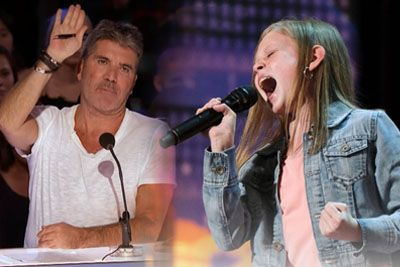 Simon Cowell Has 12-Year-Old Ansley Burns Sing Aretha Twice, And She Nails It