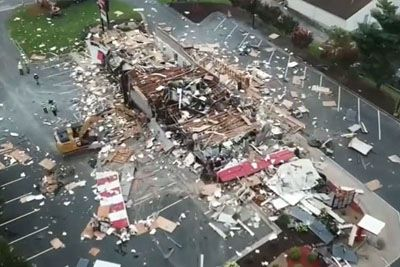 Surveillance Video Captures An Explosion Reducing A North Carolina KFC To Rubble