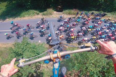 Mountain Biker Captures His Sick Jump Over Tour de France Peloton