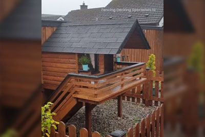 Man Builds An Insulated Cabin On The Garden Just For His Dog
