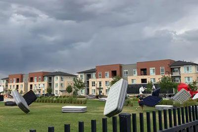 Storm Causes Massive Mattress Migration In Colorado, USA