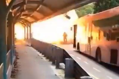 Firefighter Stands Through Massive Explosion, Walks It Off Like A Boss