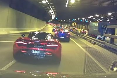 Mclaren Driver Jumping Queue In Traffic Gets Caught By Police