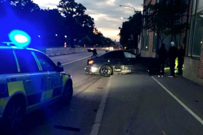 Swedish Driver Fleeing Police Officers, Crashes His BMW M3