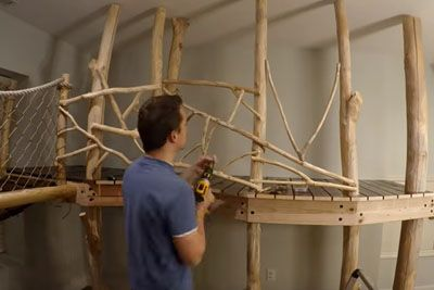 Dad Builds His Kids Amazing Indoor Tree House