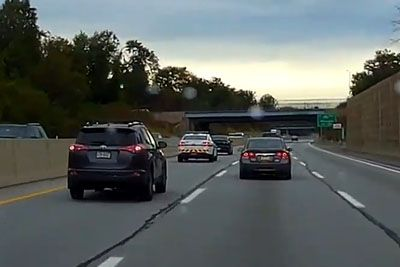 PA Trooper Tailgates And Pulls Over Left Lane Camper