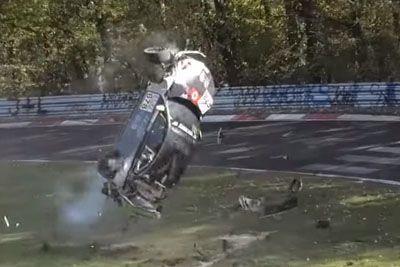 Huge Crash Of BMW M240i During Racing Cup On Nürburgring