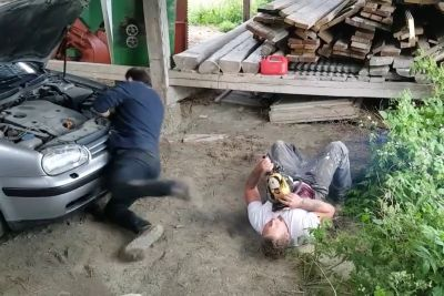 Chainsaw Prank Goes Horribly Wrong, Ends With Victim Passing Out