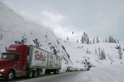 Skier Pulls Off An Insanely Dangerous Backflip Over A Highway