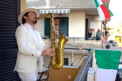 Italian Musician Performs