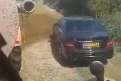 Farmer Takes A Revenge On A Driver Parking A Car On The Farmer's Field
