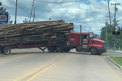 Logging Truck Finds Its Tipping Point