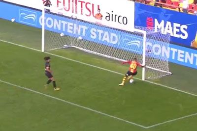 Football Player Misses Empty Goal From Inches Away