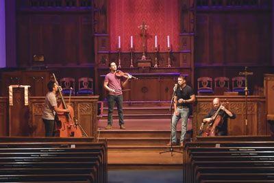 Trio Of Men Perform 'Hallelujah' Cover In Empty Church