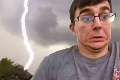 Man Was Way Too Close To Lightning